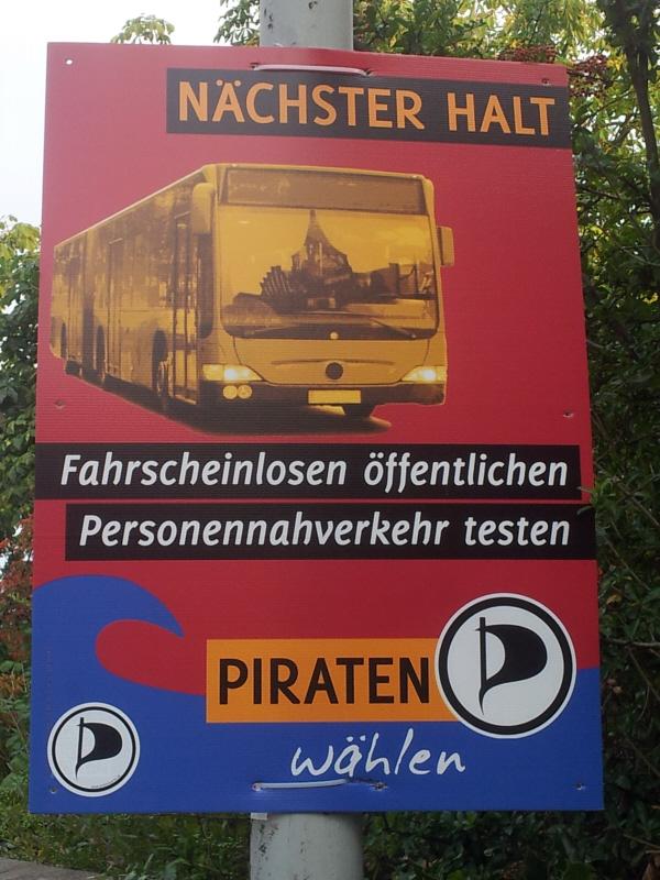 Plakat zur Bundestagswahl 2013